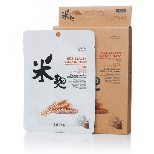 Mitomo sheet mask Rice Leaven Natural UV protection