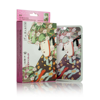 Mitomo Aloe + Cherry Blossoms Essence Mask Hydrates and Tightens the Skin